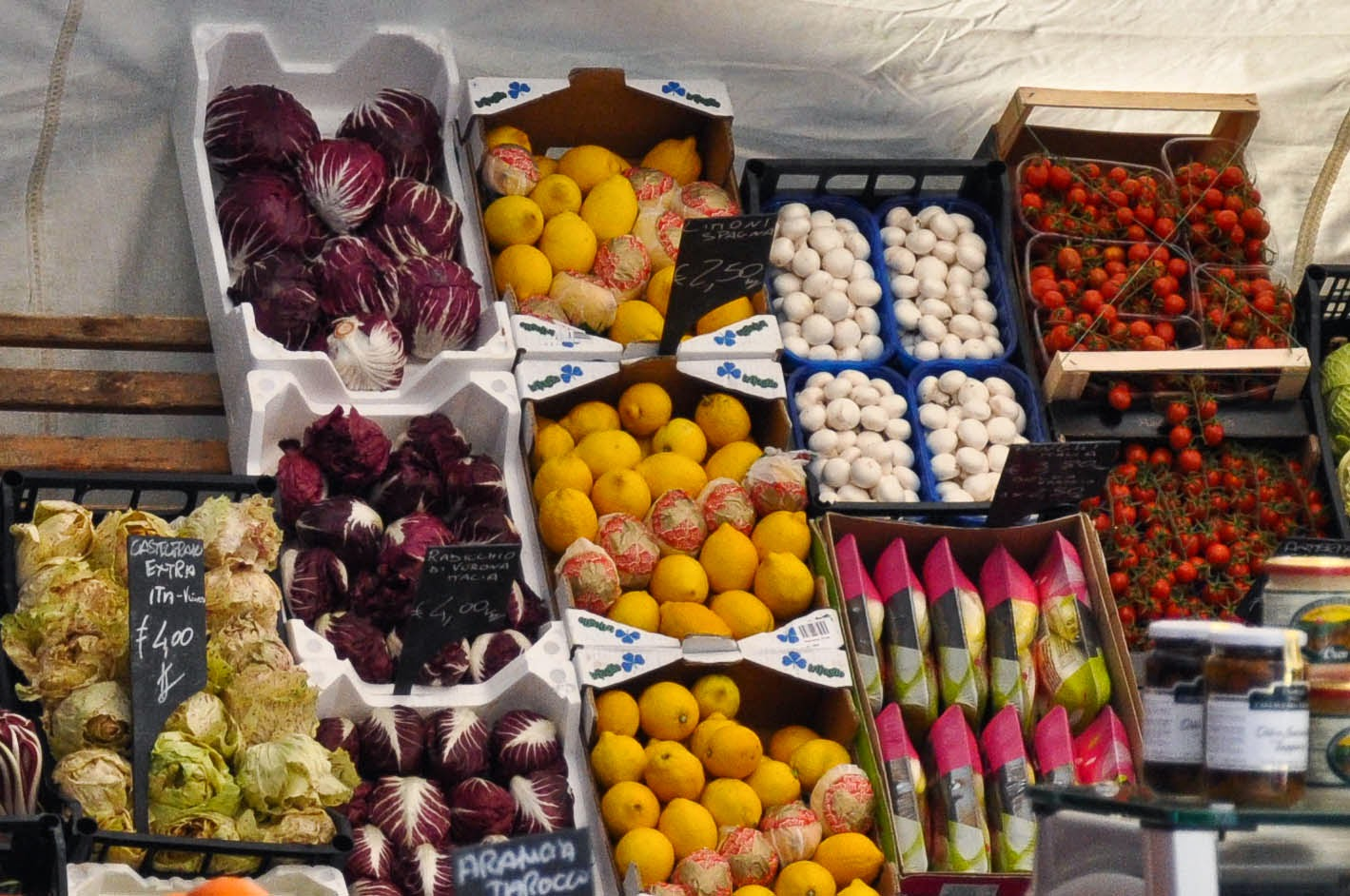 Fruit and veg at the Thursday market in Vicenza, Italy