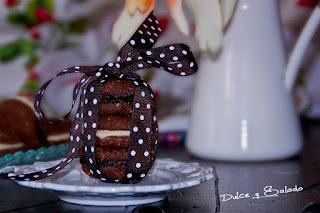 Bocaditos de Chocolate Negro y Blanco