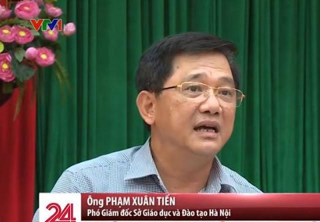 Phó giám đốc Sở Giáo dục và Đào tạo Phạm Xuân Tiến