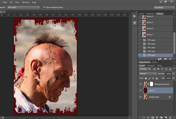 Layer with layer mask in Photoshop
