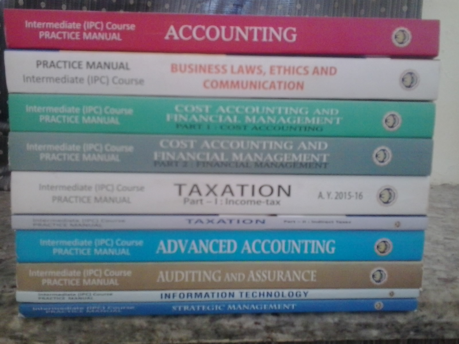 Latest Publications related to Nov-2015 exams IPCC & FINAL Practices Manuals  and Study Materials are available in Nellore ICAI Bhawan. Cont : 8500084499