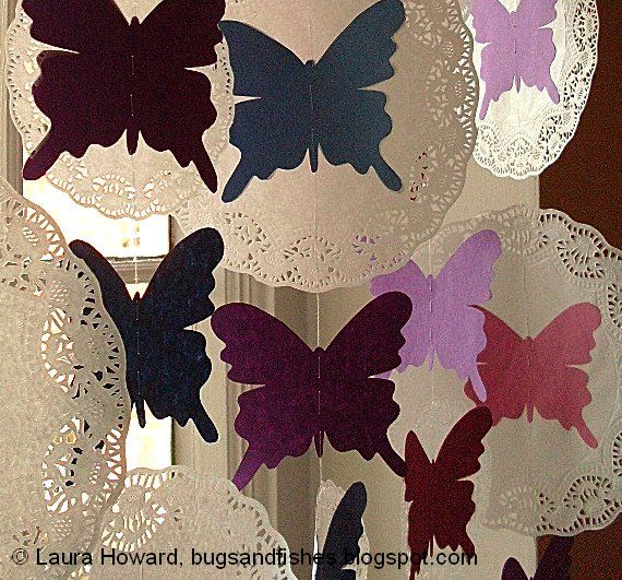 DIY How to Make Butterfly and Paper Lace Curtains.