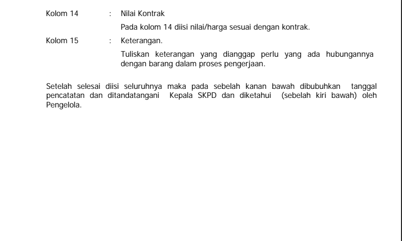 Panduan Cara Pengisian Kartu Inventaris Barang (Kib) F Konstruksi DalamPengerjaan Hal 3 Inventaris Sekolah