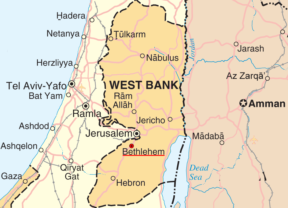Regional Map of Bethlehem