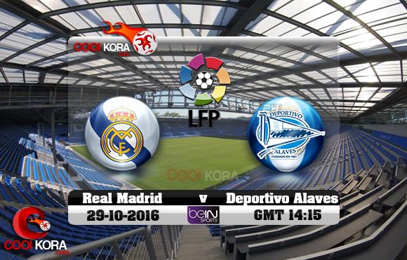 مشاهدة مباراة ديبورتيفو ألافيس وريال مدريد اليوم 29-10-2016 في الدوري الأسباني