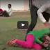 Boy Friend Beating His Girl Friend in Public Park for Coke