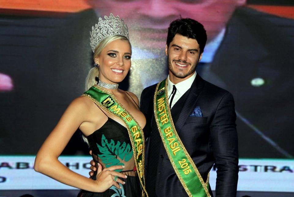 Ingrid Irano e Mariano Jr., a Miss e Mister Brasil 2015. Foto: Salani Antônio