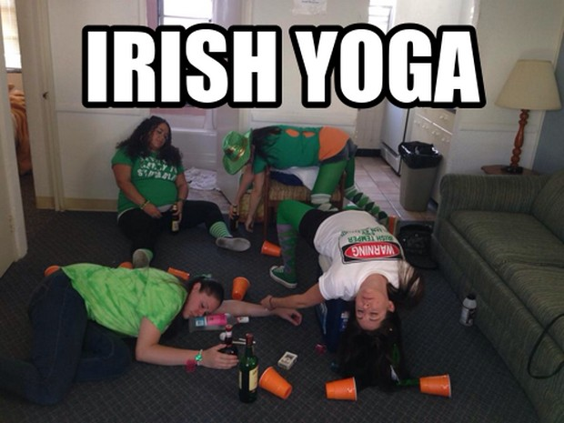 Irish Yoga -- Celebrating St Patricks Day with Cats, Star Wars, Yoga... Ya Know, the Usual!  ;P  Plus, the #FridayFrivolity LINKY - the blog party where hosts comment, pin, tweet, and want to get to know you!
