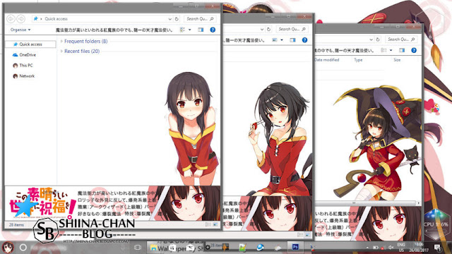Windows 10 Ver. 1709 Theme Megumin KonoSuba! by Enji Riz