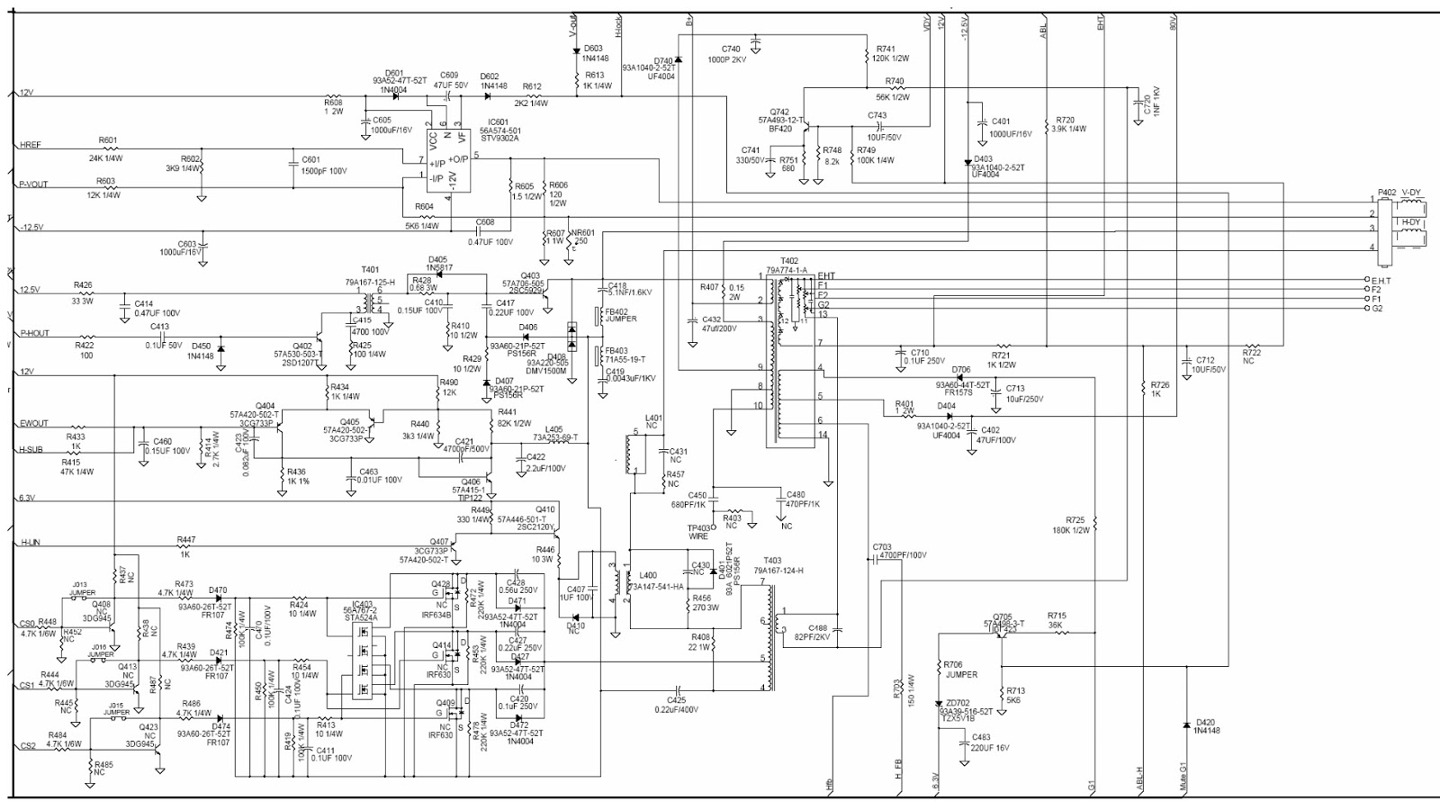 hp 7540 17 inch crt monitor circuit daigram schematic diagrams rh schematicscom blogspot com hcl crt monitor circuit diagram lg crt monitor circuit diagram