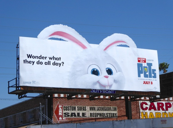 Secret Life of Pets Snowball rabbit billboard