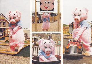 Pippa Pig at Once Upon a Time Children's Theme Park, Woolacombe, N. Devon. Postally unused postcard published by Dowland Press Ltd,. Frome, Somerset. No date