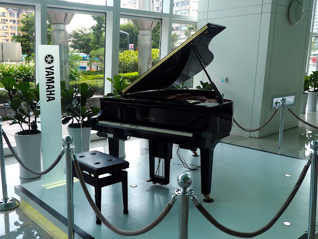 Grand piano in the lobby of Taipei 101, Taipei, Taiwan