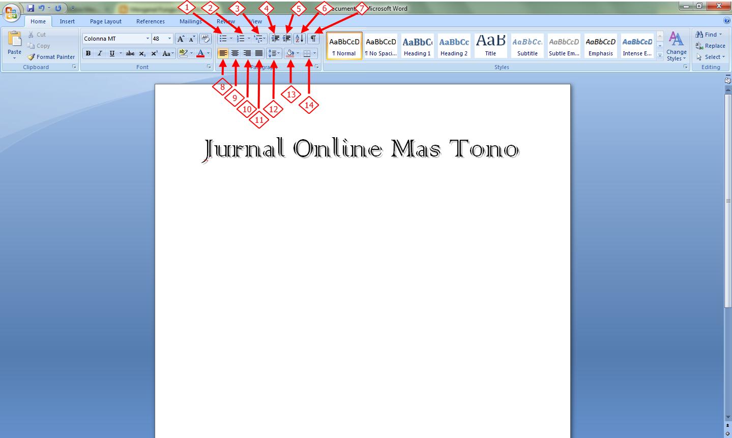 Tab Home Fungsi Paragraf Dalam Microsoft Word