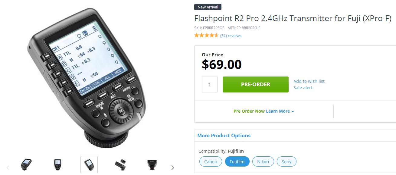 Flashpoint R2 Pro в онлайн-магазине Adorama