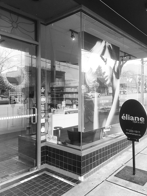 Eliane Hair & Spa Point Grey location storefront