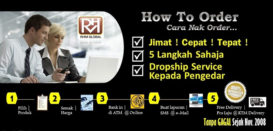 How To Order | RHM Global Sdn.Bhd | Agent Dropship