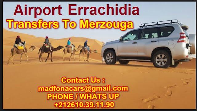 Transfers from Errachidia airport to Merzouga