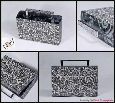 decoupage σε ξυλινες χειροποιητες τσαντες,now-heart-made-art-bags