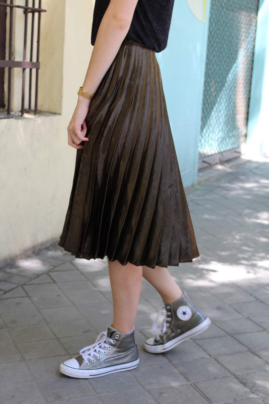 jupe longue kaki