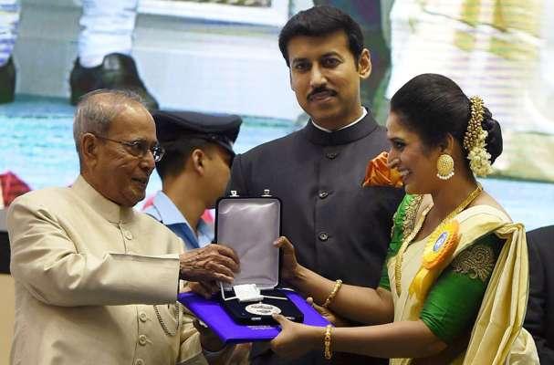 Surabhi Lakshmi receives her first National Film Award