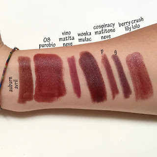 PuroBIO Cosmetics LIPSTICKS SWATCHES verdebio