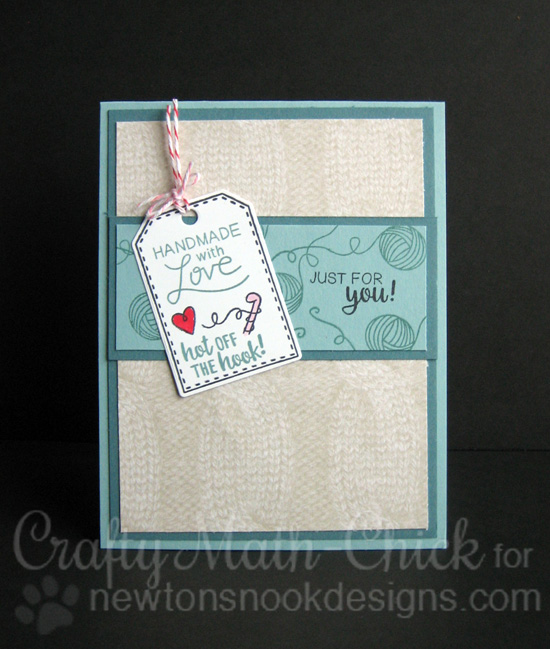 Handmade with Love card by Crafty-Math Chick | Tag Sampler Stamp set by Newton's Nook Designs #newtonsnook