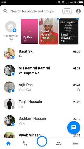 messenger my day feature