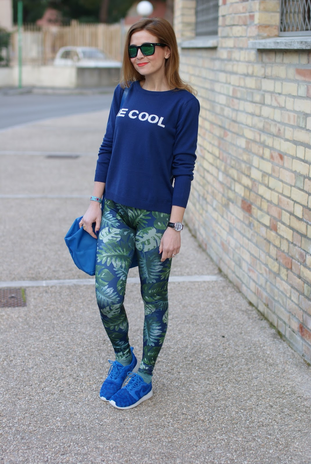 Pins to Kill scattered leaf leggings, Nike Roshe Run, Woodstock Zamboon watch, Fashion and Cookies fashion blog, fashion blogger style