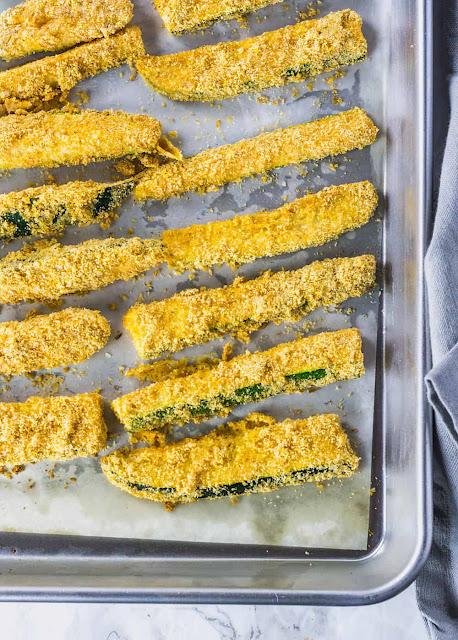 Baked Zucchíní Fríes (Gluten Free, Vegan)