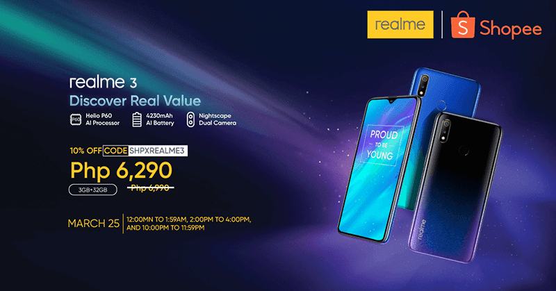 Shopee reveals realme 3 flash sale schedule!
