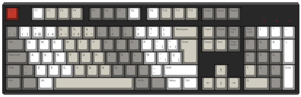 Rayas - Diseño teclado mecánico - dPunisher