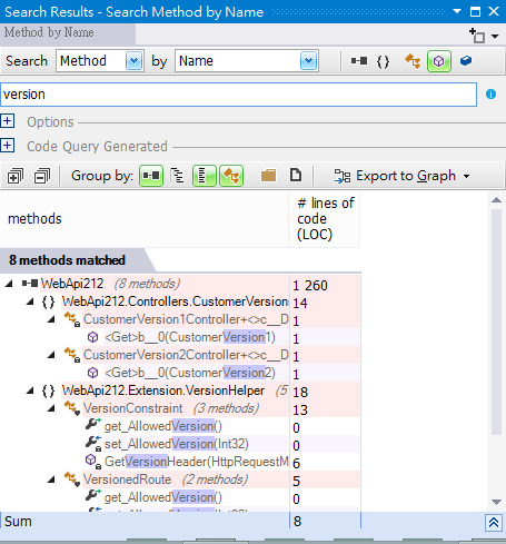 NDepend v5 Report - Search 2