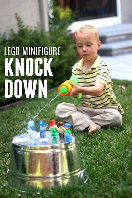 Toddler Approved!: LEGO Minifigure Knock Down Game
