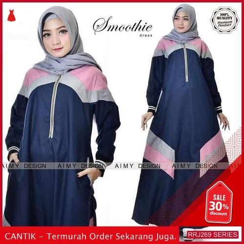 Jual RRJ269D143 Dress Smoothie Maxy Wanita St Terbaru Trendy BMGShop