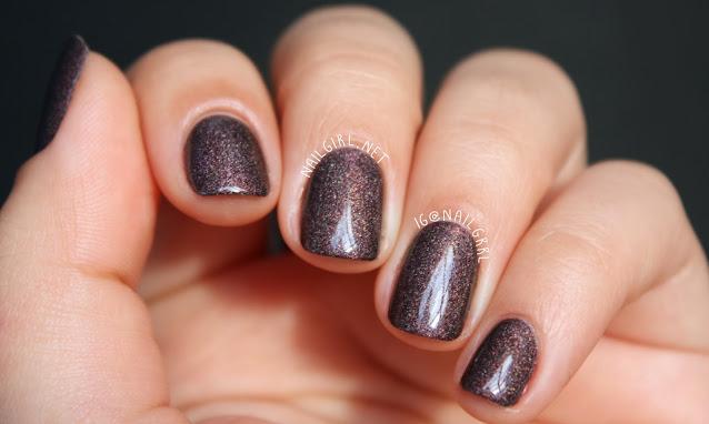A-England Sleeping Palace Nail Polish Manicure on Short Nails