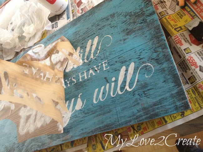peeling off stencil