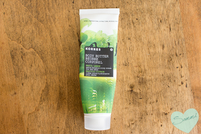 KORRES | Body Butter in Lemon Basil ($10 | 1.69oz)