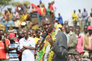 Uasin Gishu Governor Jackson Mandago in a political rally at Eldoret. PHOTO | Courtesy