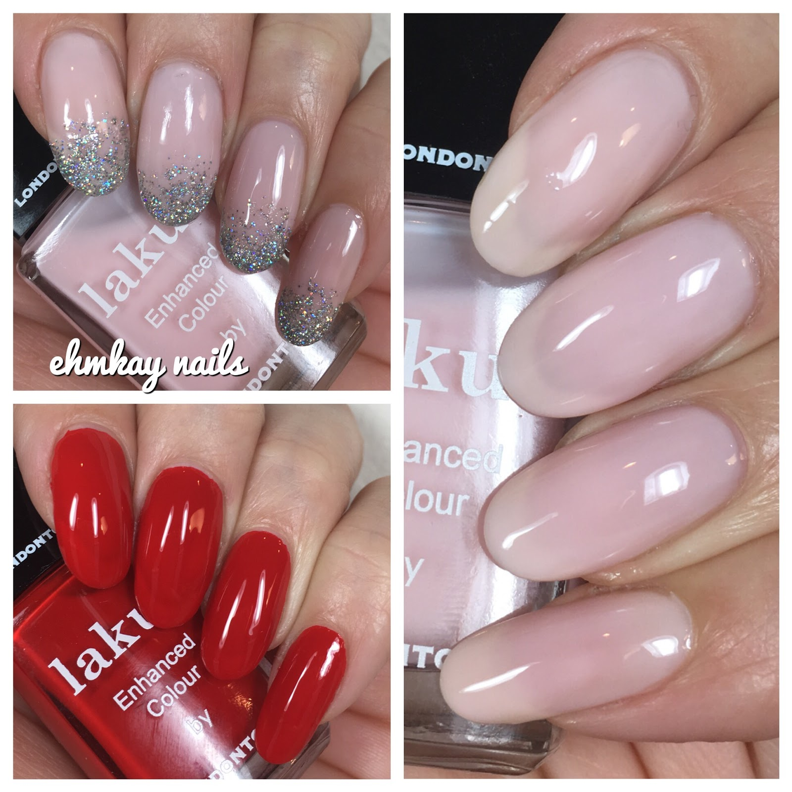 ehmkay nails: Londontown Londoner Love, Invisible Crown, and Smudge Fix