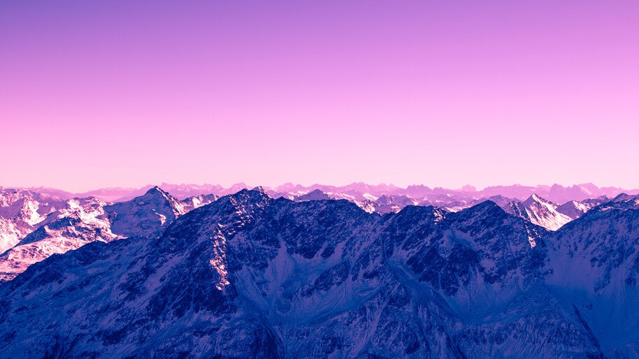 Pink Sky Mountains Scenery 4k Wallpaper 4 2331
