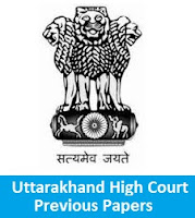 Uttarakhand High Court Previous Papers