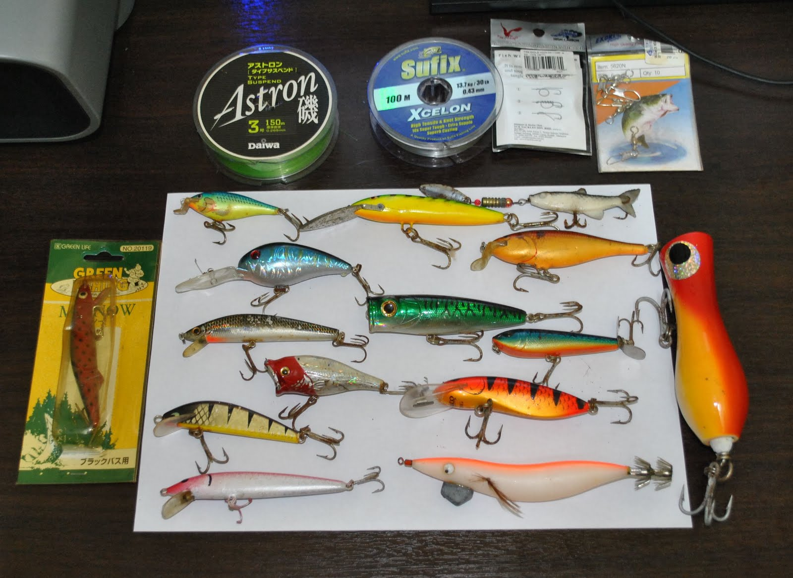 Different types of lures vary not only in size,weight and colour but also  in the way they are set up to trick the fish. According to wikipedia, in  early ...
