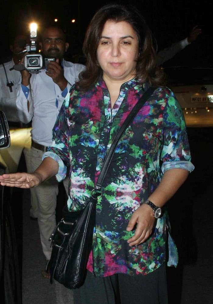 Farah Khan, Pics from Condolence Meeting of Late Filmmaker Ravi Chopra
