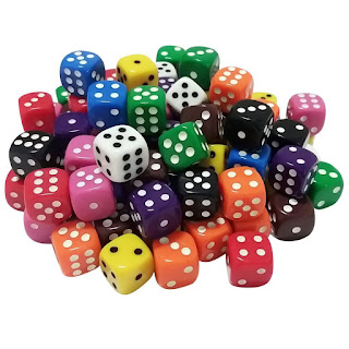 Colored dice from Amazon