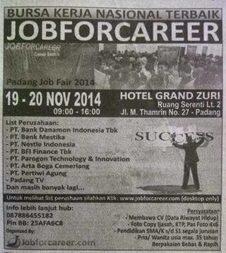 Bursa Kerja Nasional Job Fair - Padang @Hotel Grand Zuri
