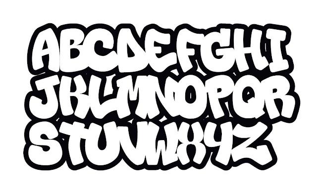 Graffiti ausmalbilder, graffiti abc