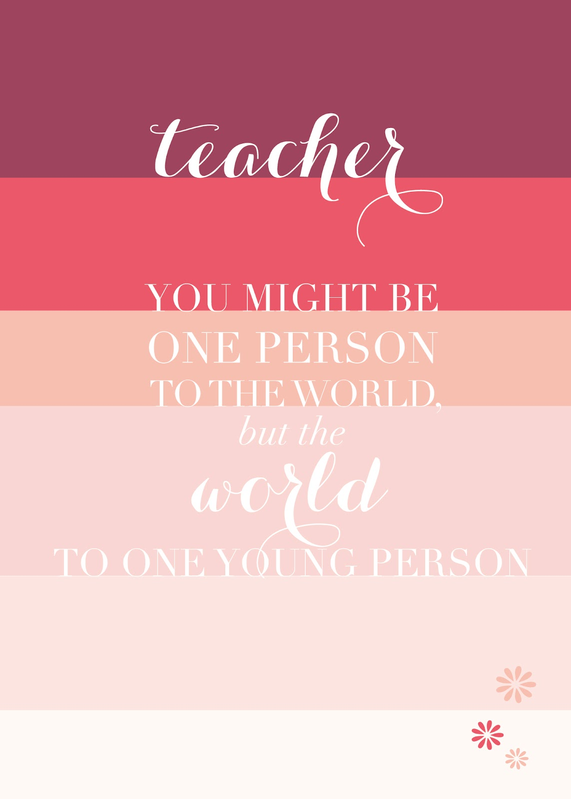 Teacher Appreciation Printable Ashlee Proffitt