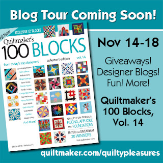 next blog tour for QM 100 blocks starts Nov. 14