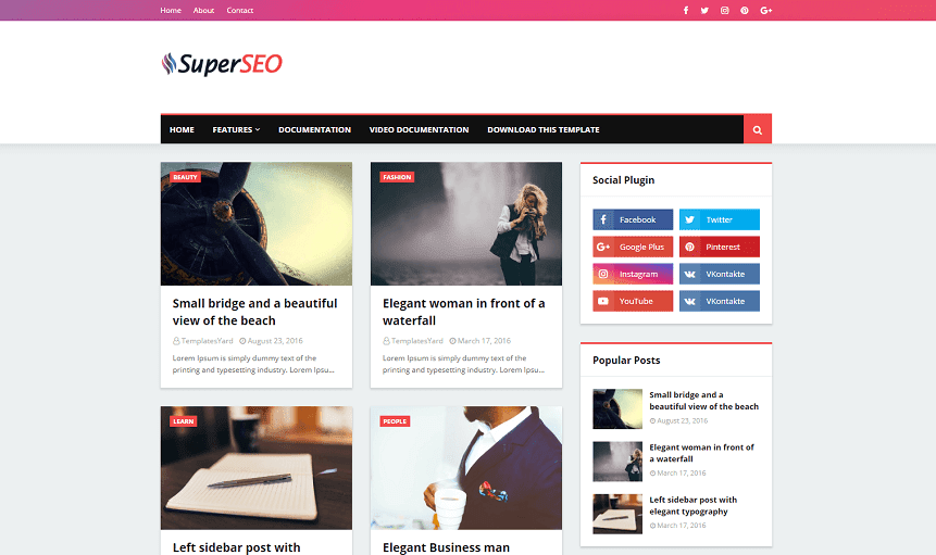 Super SEO Responsive SEO-Optimized Blogger Template